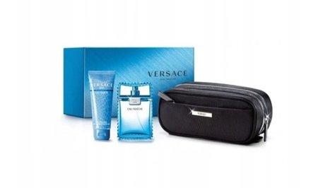 Versace EAU FRAICHE EDT 100ml + żel + kosmetyczka
